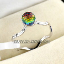 Fashion Ring Crystal Ball 18KGP CZ Rhinestone Crystal Size 5,5.5,6