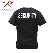 6616 Rothco 2-Sided Security T-Shirt - Black