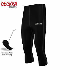 Deckra Uomo Ciclismo Pantaloni 3/4 COOLMAX ANTI BAC imbottitura ciclo TIGHT SHORT