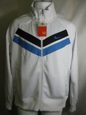 NIKE MENS POLYESTER ZIP UP JACKET WHITE/NAVY -446271 100-