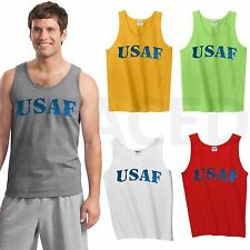USAF Tank Tops for MEN American Army Force Military ADULT Tanks - GMTT49