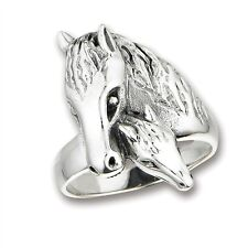 Sterling Silver HORSE WITH FOAL Ring Jewelry 925 Size 6-10