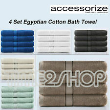 4 Set Soft Egyptian Cotton Bath Towels on Sale White/Cream/Latte/Charcoal