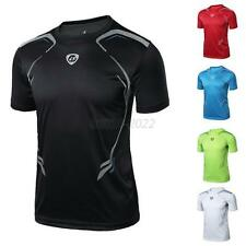 Mens Boy Sport T-shirt Fitness Quick Dry Casual Stretch Top Tee Shirt M/L/XL/2XL