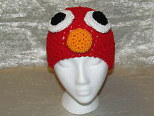 Sesame Street Elmo Beanie Hat - Custom Made Crocheted