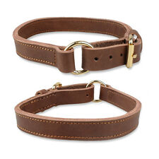 Soft Genuine Leather Pet Dog Collars For Large Dogs Labrador Rottweiler Boxer