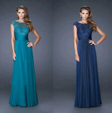 Sexy Women Lace Long  Chiffon Evening Formal Party Bridesmaid Prom Gown Dresses