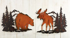 Collections Etc Woodland Animals Metal Wall Art Silhouettes Decor