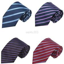 New Classic Striped JACQUARD WOVEN 100% Silk Men's Tie Party Necktie 10Color W86