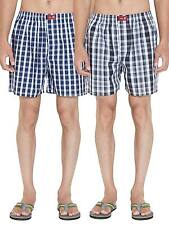 SDL by Sweet Dreams Multi Colour Cotton Check Boxers - Pack Of 2 (S5ASDLMSPR502)