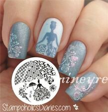 Nail Art Stamping Plate Stamp Template Image Rose Queen Theme BORN PRETTY 25