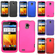 For ZTE Rapido LTE Z932L Z932C Color Rubberized Hard Matte Case Snap On Cover
