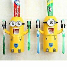 Despicable Me Minions Automatic Toothpaste Dispenser + 2 Toothbrush Holder Set