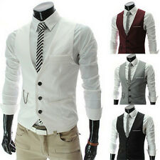 New Waistcoat Jacket Coats Fashion Men's Slim Fit Formal Casual Dress Vest Suit