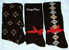 Passione Set of 3 Luxury Cashmere Blend Knee High Socks A202535