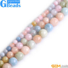 """Natural Colorful Morganite Gemstone Round Beads Free Shipping 15"""" 6mm 8mm 10mm"""