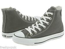 Original New Adult Converse Shoes All Star Hi Tops Red or Grey Unisex UK Size 3
