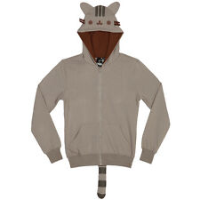 Pusheen The Cat Cosplay Licensed NWT Adult Zip Hoodie Sweatshirt - Grey