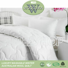LUXURY 100% AUSTRALIAN WASHABLE WOOL Quilt Duvet Doona-Pure Cotton Sateen Cover