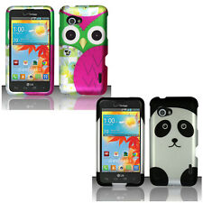 For LG Enact VS890 Verizon Colorful Design Hard Case Snap On Cover Accessory