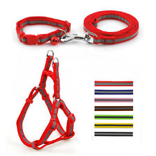 Nylon Step In Pet Dog Harness&Leash&Collar Set Safety Reflective for Dogs 3pcs