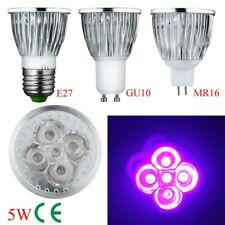 AC 85-265V /12 UV Sterilization LED Ultra violet Spotlight Bulb 4W 5W E27 GU10