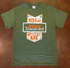 Official STIHL Timbersports Apparel Green T-shirt Kiss My Axe
