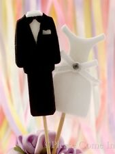 Tuxedo & Wedding Gown Wedding Cupcake Toppers Double Sided