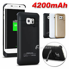 4200mAh Backup Battery Power Bank Charger Case For Samsung Galaxy S6 / S6 Edge