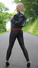 Sandy in Grease Shiny Black Lycra Spandex Leggings