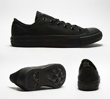 Original New Adult Canvas Converse Shoes All Star Black Mono Ox UK 3to11 Unisex