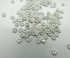 Spacer Metal Beads of Tibetan Silver Daisy and 4mm Jewelry Making Wholesale