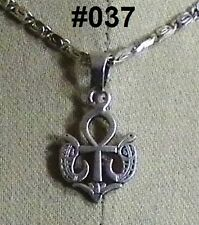 "Hall marked Egyptian Pharaonic Silver Pendant  ""Ankh , Scarab , Isis , Lotus """