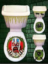 HORROR BATHROOM TOILET SEAT LID CISTERN COVER PARTY NOVELTY HALLOWEEN DECORATION