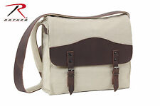 Rothco 9671 Vintage Canvas Medic Bag w/ Leather Accents - Khaki