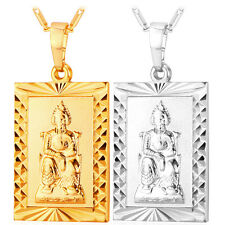 Square Shaped Buddha Pendants 18K Gold / Platinum Plated Necklaces Jewelry