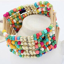 Women's Fashion Bohemian Charm Tassel Beads Multilayer Solid Color Cute Bracelet