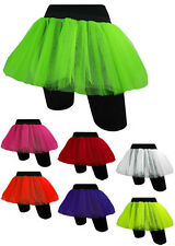 Ladies Fancy Dress Fishnet 2 Layers Tutu Skirt UK 10 to 16 OR Plus Size 16 to 28