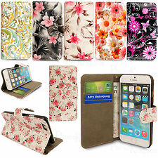 LEATHER WALLET BOOK FLIP SIDE OPENS CASE COVER FOR SMART PHONES + SCREEN GUARD