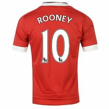 Adidas Manchester United Home Jersey 2015 2016 Rooney Mens Red Football Soccer