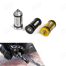 Black/Silver/Gold Edge Cut Shifter Peg Fit Harley Sportster Dyna Softail Street