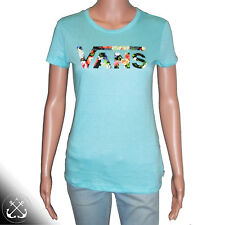 Vans Tropical Timebomb Blue Curacao Womens Tee,Floral,Skate, A4-005