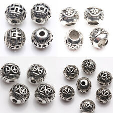 Practical 10/20 Pcs Tibet Silver Various Pattern Hollow Out Spacer Beads 8mm DIY