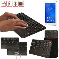 Slim Wireless Bluetooth UK Keyboard & Touchpad for Sony Xperia Z3 Tablet Compact