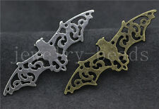5/20/100pcs Tibet Silver/Bronze Lovely bat Connector Charms Pendant DIY 56x19mm