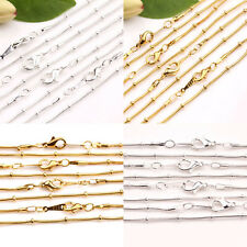 Wholesale 2/10Pcs Unisex Golden/Silver/White K  Clasp Charms Chain DIY Finding