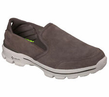 53987 Taupe Skechers Shoes Go Walk 3 Men Soft Suede Slipon Comfort Casual Loafer
