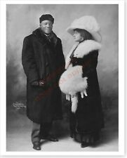 Boxer Heavyweight Champion Jack Johnson And Wife Etta Duryea Free Shipping