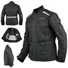 Textile Jacket Motorcycle Motorbike Armour CE Breathable Waterproof Black