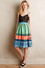NWT - ANTHROPOLOGIE - TRACY REESE Fractal Flora Dress size 2P (Green Motif) $278